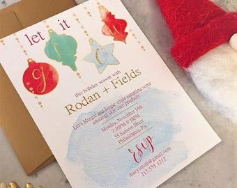Holiday Christmas | Launch Party | Invitation | Rodan + Fields