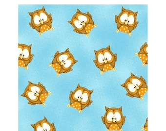 Clearance SALE ABC~123, Owls~Cotton Fabric, Quilt,by Henry Glass, Fast Shipping N329