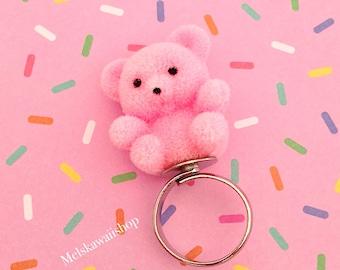 Pink Teddy Bear Ring