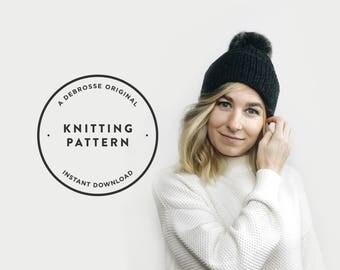 KNITTING PATTERN ⨯ Double Brim Hat, Slouchy Hat, Knit Beanie  ⨯ The Savante