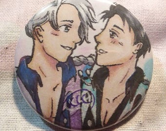 """Yuri On Ice Buttons   Pins   Fanart Pins   Digital and Traditional   1.5"""""""