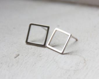 Earrings silver stainless steel