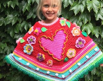 Crochet baby poncho crochet poncho pollevie poncho ibizastyle
