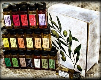 Best  handmade gift, healthy recipes, olive gift, Book of Olive Oil, Culinary treats, Infused Extra Virgin Olive Oil, Unique taste an flavor