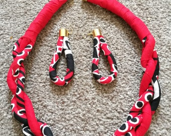 Earrings and neck piece set