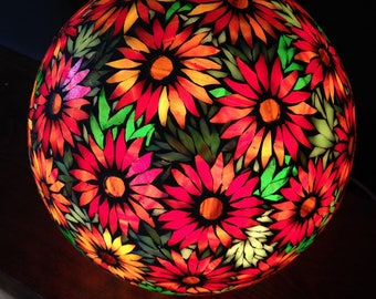 Spring at your fingertips eyes. In the series of the flowered lamp ball mosaic stained glass. To order