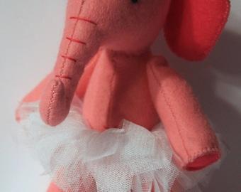 Pink Elephant with unicorn and tutu