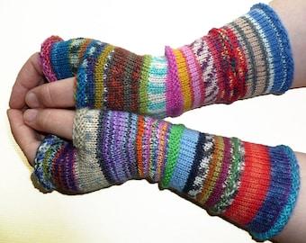 Knit Fingerless gloves - Arm warmers - Wrist warmers - Long Fingerless Mittens - womens fingerless - Hand warmers - Gift