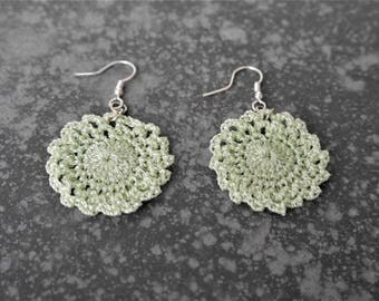 Pistachio green Stud Earrings