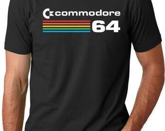 Commodore 64 Retro Computer Vintage Logo T-Shirt