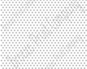 White with grey mini polka dots craft  sheet - HTV or Adhesive Vinyl -   polka dot  HTV2338