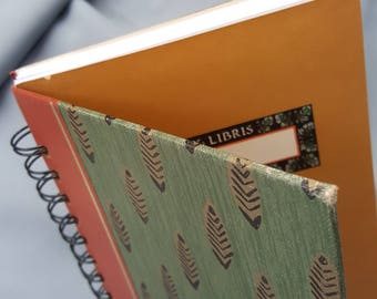 BLANK SKETCHBOOKS Upcycled Vintage Reader's Digest Condensed Book Covers, 75 white pages and wire binding