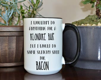 Bacon Mug, Crossfit Gift, Funny Mugs, Custom Mugs, Funny Coffee Cup, Home and Living, Kitchen and Dining, Mugs, Gift for her, Gift for him