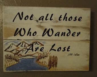 Sign, Inspirational, handmade, hiking, Camping