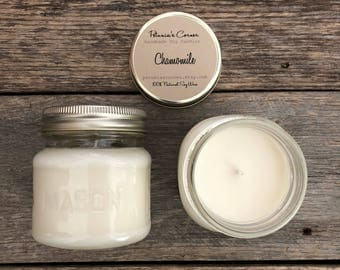 Chamomile Mason Jar Soy Candle