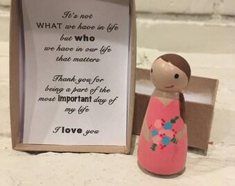 Peg doll bridesmaid gift