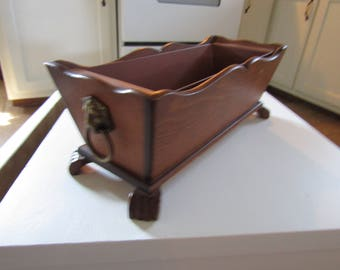 Vintage Wooden Claw Footed Lion Gothic Catchall Storage Tray