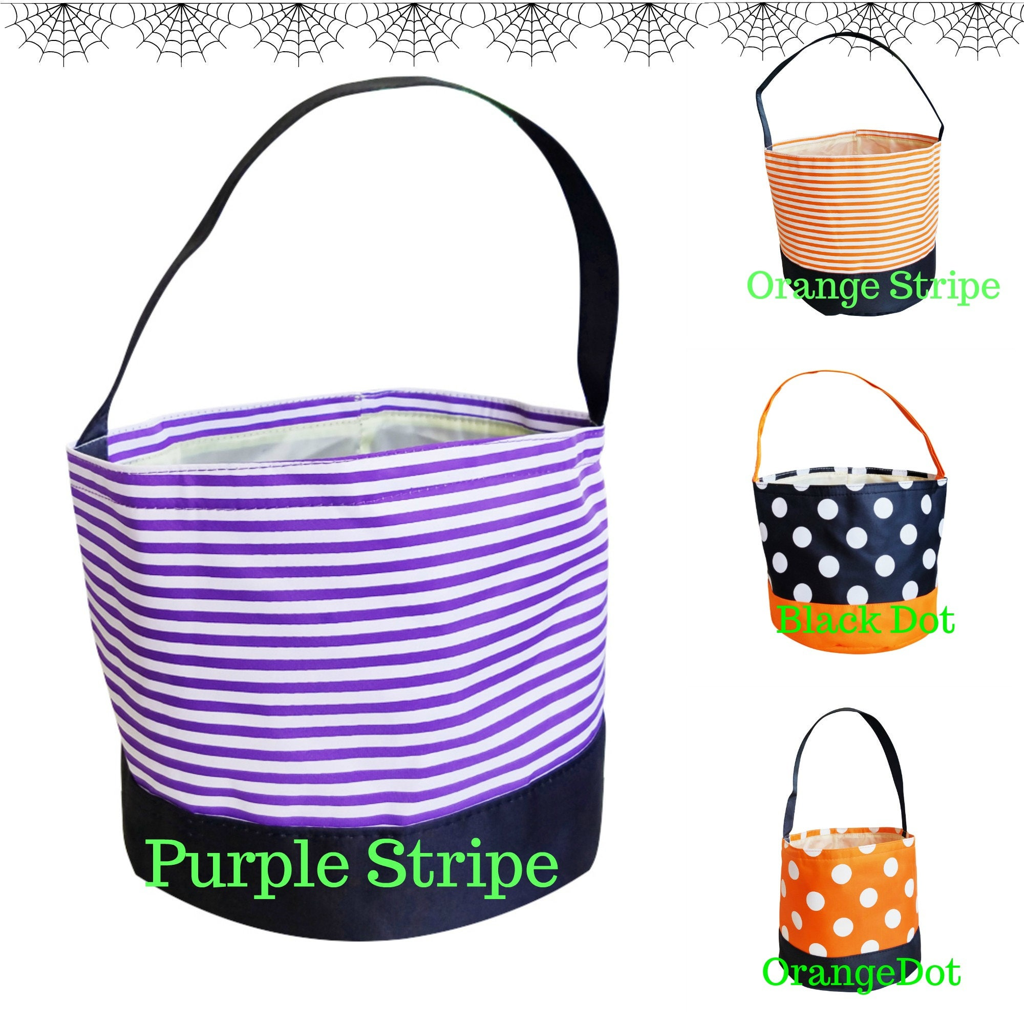 monogrammed halloween totes personalized halloween totestrick or treat bags personalized halloween bag