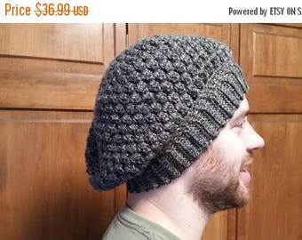 ON SALE Slouchy Beanie Hat - Unisex Hat, Beanie Cap, Crochet Slouch Beanie, Chunky Beanie, Oversized Hat, Baggy Hat, Gift for Him, Gift for