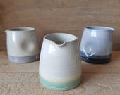 Stoneware ceramic dimple jug, for milk, cream, or a posy of flowers. Handmade by Holly Bell ceramics