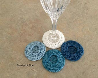 Stemware, Wine glass coasters, set of four