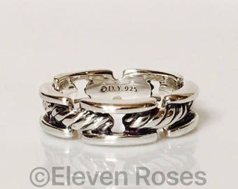 david yurman classic cable chain band ring dy 925 sterling silver comfort fit free us shipping