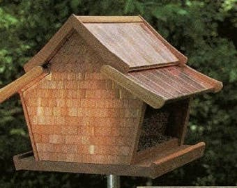 Bird feeder pole etsy for Bird feeder pole plans
