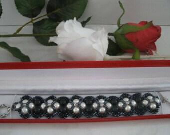 handmade bracelet with glass pearls
