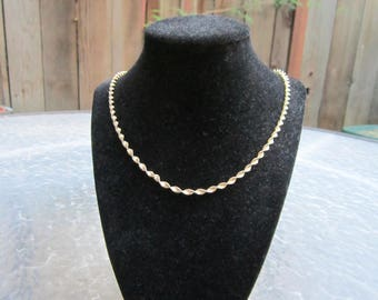 Vintage 925 sterling silver Italy vermeil twisted chain necklace - estate jewelry
