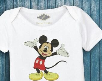 Happy Mickey Embroidery Design - Mickey Embroidery Design