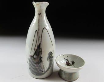 Nitten Potter Ogami Noboru Tanba-ware Sake Set, Koedo