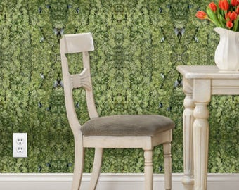 Wall Paper Peel and Stick, Rhino Bolt Cannabis Wall Art, Wall Paper Removable, Botanical Wallpaper, Tropical Wallpaper, Jungle Wallpaper