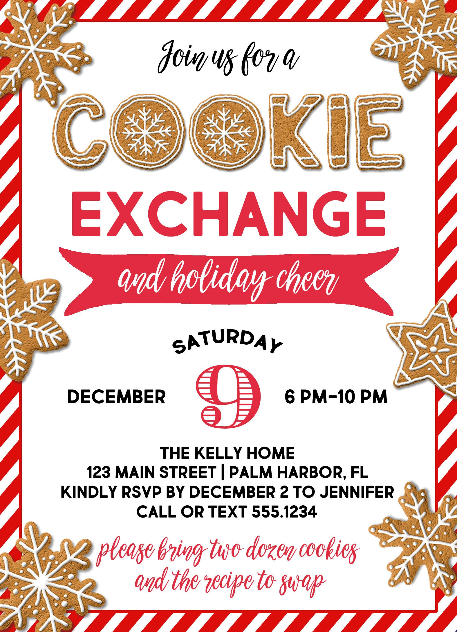 Christmas Cookie Party Invitation, Christmas Cookie Exchange ...