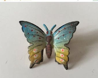 Sale Brooch Butterfly Textured Matte Finish Multi-Colored