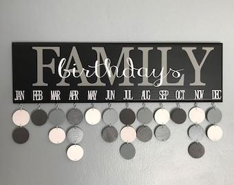 Family Birthday Calendar, Family Birthdays, Family Birthday Board