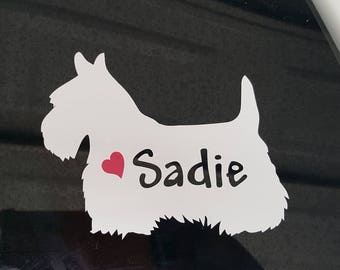 Scottie, Scottish Terrier car Decal, Scottie Dog Decal, Sticker,