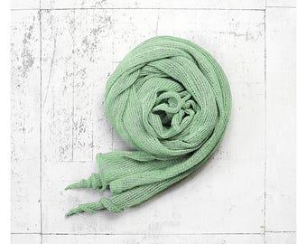 Mint linen scarf. Linen shawl. Linen wrap. Long scarf. Long linen shawl. Natural linen. Summer scarf. Linen scarves. Women scarf. Scarf
