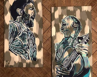 Avett Brothers Canvas Painting