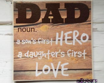 DAD Sign / Wall Decor / Plaque / Wall Hanging