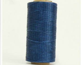 1mm Waxed Polyester Cord 160m Navy