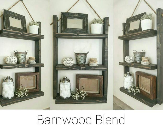 Large Bathroom Shelf - book shelf - Rope Hanging Wood Shelf - Decor shelf - Medicine Cabinet