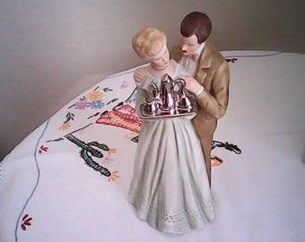 25 YEARS TOGETHER ENESCO 1983 Couple Figurine Treasured Memories E- 3247