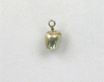 Sterling Silver 3-D Apple Charm