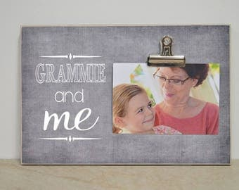 Gramma and Me, Custom Frame, Christmas Present Idea For Grandma, Personalized Gift Picture Frame, Grandma Photo Frame, Gift For Grandma