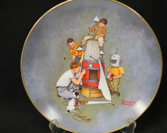Norman Rockwell Space Pioneers Collector Plate