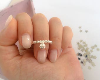 925 silver ring with bell ring