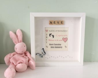 Welcome to the world baby box frame