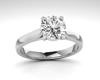 Solitaire Engagement Ring Moissanite, Forever One Moissanite Ring, Solitaire Ring, Moissanite Solitaire, 4 Prong Solitaire Wedding Ring