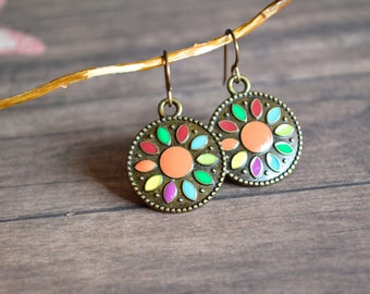 Metal Earrings. Boho Earrings. Bohemian Earrings. Gipsy Earrings. Gift Idea. Gift For Her. Summer Earrings. Summer Jewelry.Boho Jewelry