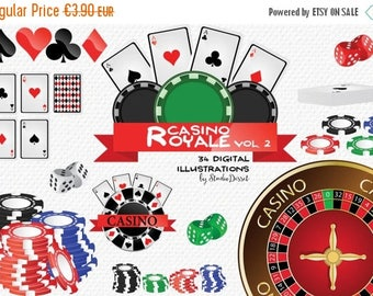 SUMMER SALE - 55% OFF Casino Cliparts, Poker Clip Art Cards, Chips Poker, Dice, Roulette, Gambling Cliparts, Poker Clipart C190